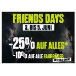 XXL Sports & Outdoor XXL Friends Days – 10 % Rabatt auf Fahrräder & 25 % auf fast das ganze restliche Sortiment (bis 5. Juni)