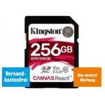 Kingston Canvas React SDXC 256GB Speicherkarte um 85 € statt 112,73 €