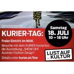 "MAK Wien – GRATIS Eintritt am 18. Juli mit ""Kurier"" unter dem Arm"