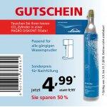 Pagro: CO2 Zylindernachfüllung zum 1/2 Preis (bis 31.07.)