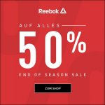 Reebok Outlet Flash Sale – 50 % Rabatt auf ALLES & gratis Versand
