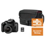 Canon EOS 4000D Kit + Tasche + 16 GB um 333 € statt 376,11 €