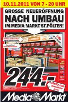 Neueröffnungsangebote am 10.11.2011 von 7-20 Uhr @Media Markt St. Pölten