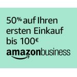 Amazon Business: 50% Rabatt auf den ersten Einkauf bis 100 €