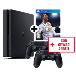 PlayStation 4 1TB + 2x Controller + God of War + FIFA 18 um 299 €
