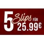 Hunkemöller Onlineshop – 5 Slips um 24,99 € & gratis Versand