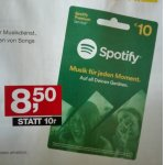10 € Spotify-Karte um nur 8,50 € in den Post-Filialen (ab 6. August)