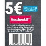"""Toys""""R""""Us Filialen – 5 € Rabatt ab 25 € Einkaufswert (10. & 11. August)"""