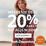 Peek&Cloppenburg – 20 % Rabatt auf alle Kleider + gratis Versand