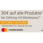 Notebooksbilliger.de – 30€ Rabatt ab 120€ Bestellwert (mit Masterpass)