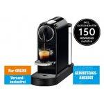 DeLonghi Nespresso EN 167.B Citiz Kaffeekapselmaschine + bis zu 200 GRATIS Kaffeekapseln inkl. Versand um 88 € statt 147,90 €