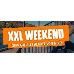 XXL Sports Weekend – 20 % Rabatt auf alle Produkte von Nike