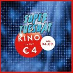 Cineplexx Super Tuesday – Kino um 4 € (nur am 04.09.)