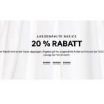 H&M Online: 20% Rabatt auf ausgewählte Basics