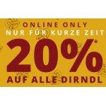 Peek&Cloppenburg Onlineshop – 20 % Rabatt auf Dirndl & Zubehör