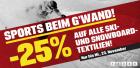 -25% auf alle Ski- und Snowboardtextilien + kostenloser Versand bis 23.11.2011 @Sports-Experts Onlineshop