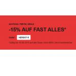 Zalando: 15% Rabatt auf fast alles (bis 19.09.)