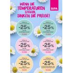 BIPA – 25 % Rabatt Aufkleber auf je 2 Produkte (bis 21. Oktober)