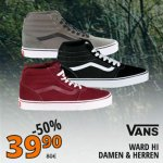 Vans Ward Hi Sneaker (versch. Farben) um 39,90 € statt 71,29 €