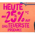 Bipa Online: 25% Rabatt auf das teuerste Produkt (nur heute!)