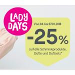 Bipa Lady Days: 25% Rabatt auf Schminkprodukte, Düfte & -sets