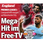 Free TV Fußball – Liverpool : Manchester City am 06.10. ab 17:15 Uhr