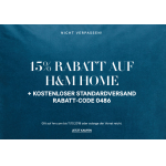 H&M Onlineshop: 15% Rabatt auf HOME + gratis Versand