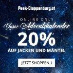Peek&Cloppenburg Onlineshop – 20 % Rabatt auf Jacken & Mäntel