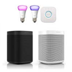 Sonos One + Philips Hue E27 Starter-Kit um 269 € statt 355,99 €