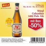 Stiegl Columbus 1492 Pale Ale um 0,60 € statt 1,19 €