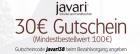 Neuer 30€ Javari.de Gutschein ab einem Bestellwert von 100€ @Javari.de