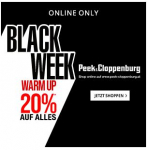 Peek&Cloppenburg Black Friday Warm Up – 20 % Rabatt auf ALLES