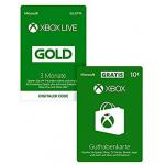 Xbox Live Gold 3 Monate + 10 € Guthaben um 19,99 € statt 26,55 €