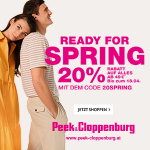 Peek&Cloppenburg – 21% Rabatt auf ALLES (inkl. Sale) & gratis Versand
