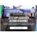 Adidas App – 30 € Rabatt ab 50 € Bestellwert bei Bezahlung mit PayPal