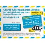 50 € Conrad Gutschein um nur 40 € (20. – 24. Dezember)