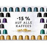 Nespresso – 15 % Rabatt auf alle Kaffees & gratis Versand (bis 31.12.)