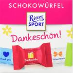 """4x Ritter Sport Schokowürfel """"Dankeschön"""" 176 g um 5,73 € statt 13,96 €"""