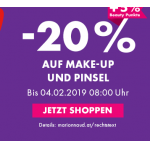 Marionnaud: 20% Rabatt auf Make-Up & Pinsel (mit Marionnaud Karte)