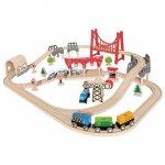 Hape Spielzeug-Eisenbahnset mit Doppelschleife um 48,42 € statt 83,47 €