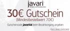 30€ Rabatt auf das gesamte Sortiment ab 70€  Bestellwert mit neuem Gutscheincode @Javari.de