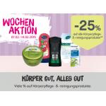 Bipa Onlineshop: 25% Rabatt auf Körperpflege- & reinigung