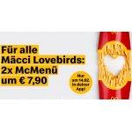 Mcdonalds Valentinstag – 2x McMenü um 7,90 € (nur am 14. Februar)