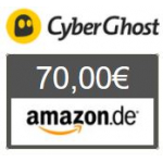 TOP! CyberGhost VPN 18 Monate + 50€ Amazon Gutschein um 49,50€