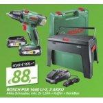 Bosch PSR 1440 LI-2 Akkuschrauber + 2 Akkus + WorkBox um 88 €