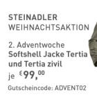 Softshell Jacke olivgrün oder schwarz um 99 statt 139 Euro