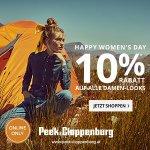 Peek & Cloppenburg  – 10 % Rabatt auf alle Damenartikel + gratis Versand
