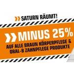 Saturn – 25 % Rabatt auf Braun Hygiene- und Oral-B Zahnpflegeprodukte