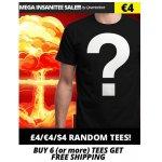 Qwertee – T-Shirts um 5 € (zufälliges Design) & gratis Versand ab 6 Shirts