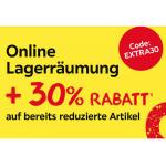 XXXLutz Lagerräumung – 20% Extra-Rabatt auf bereits reduzierte Artikel!